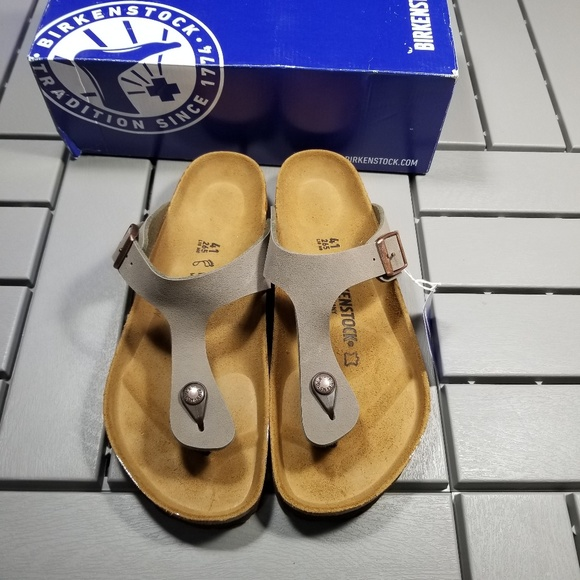 5bed60076743 NWT Birkenstock Gizeh Sandals Stone EUR 41 US 10